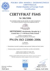 Certyfikat FSMS